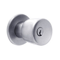 X561PD-EG-626 Falcon X Series Cylindrical Classroom Lock with Elite-Gala Knob Style in Satin Chrome Finish