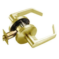 W101S-D-606 Falcon W Series Cylindrical Passage Lock with Dane Lever Style in Satin Brass Finish