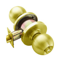 W301S-H-605 Falcon W Series Cylindrical Privacy Lock with Hana Knob Style in Bright Brass Finish