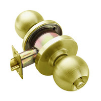 W301S-H-606 Falcon W Series Cylindrical Privacy Lock with Hana Knob Style in Satin Brass Finish