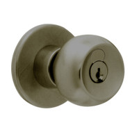 X411GD-TG-613 Falcon X Series Cylindrical Asylum Lock with Troy-Gala Knob Style in Oil Rubbed Bronze Finish
