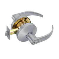 B511GD-Q-626 Falcon B Series Single Cylinder Entry/Office Lock with Quantum Lever Style in Satin Chrome Finish