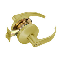 B511GD-Q-606 Falcon B Series Single Cylinder Entry/Office Lock with Quantum Lever Style in Satin Brass Finish