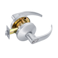 B511GD-Q-625 Falcon B Series Single Cylinder Entry/Office Lock with Quantum Lever Style in Bright Chrome Finish