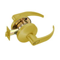 B611GD-Q-605 Falcon B Series Single Cylinder Dormitory/Corridor Lock with Quantum Lever Style in Bright Brass Finish