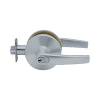 K501GD-A-626 Falcon K Series Single Cylinder Entry Lock with Avalon Lever Style in Satin Chrome Finish