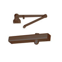 CLP8301R-690 Norton 8000 Series Hold Open Door Closers with CloserPlus Ramp Arm in Statuary Bronze Finish