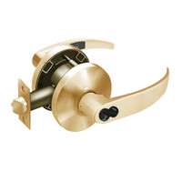 2870-65G37-KP-10 Sargent 6500 Series Cylindrical Classroom Locks with P Lever Design and K Rose Prepped for SFIC in Dull Bronze