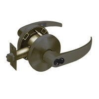 2870-65G37-KP-10B Sargent 6500 Series Cylindrical Classroom Locks with P Lever Design and K Rose Prepped for SFIC in Oxidized Dull Bronze