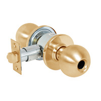 28LC-6G37-OB-10 Sargent 6 Line Series Knob Classroom Locks with B Knob Design and O Rose Less Cylinder in Dull Bronze