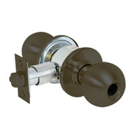 28LC-6G37-OB-10B Sargent 6 Line Series Knob Classroom Locks with B Knob Design and O Rose Less Cylinder in Oxidized Dull Bronze
