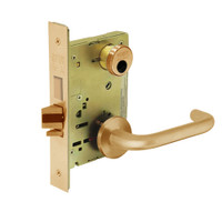 LC-8249-LNJ-10 Sargent 8200 Series Security Deadbolt Mortise Lock with LNJ Lever Trim Less Cylinder in Dull Bronze