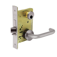 LC-8249-LNJ-32D Sargent 8200 Series Security Deadbolt Mortise Lock with LNJ Lever Trim Less Cylinder in Satin Stainless Steel