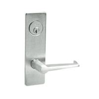 ML2059-ESM-618-LH Corbin Russwin ML2000 Series Mortise Security Storeroom Locksets with Essex Lever and Deadbolt in Bright Nickel