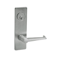 ML2067-ESM-619-LH Corbin Russwin ML2000 Series Mortise Apartment Locksets with Essex Lever and Deadbolt in Satin Nickel