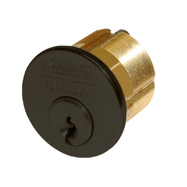 1000-112-A01-6-D1-613 Corbin Conventional Mortise Cylinder for Mortise Lock and DL3000 Deadlocks with Cloverleaf Cam in Oil Rubbed Bronze Finish