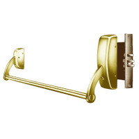 12-9910-RHR-03 Sargent 90 Series Exit Only Fire Rated Mortise Lock Exit Device in Bright Brass