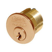 CR1000-114-A01-6-L4-612 Corbin Conventional Mortise Cylinder for Mortise Lock and DL3000 Deadlocks with Cloverleaf Cam in Satin Bronze Finish