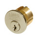 1000-114-A01-6-L4-606 Corbin Conventional Mortise Cylinder for Mortise Lock and DL3000 Deadlocks with Cloverleaf Cam in Satin Brass Finish
