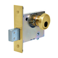 LC-4875-03 Sargent 4870 Series Single Cylinder Mortise Deadlock with Turn Lever Less Cylinder in Bright Brass