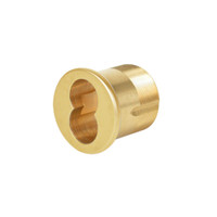 1070-138-A02-6-605 Corbin Mortise Interchangeable Core Housing with Straight Cam in Bright Brass Finish