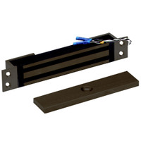 2600-MB-US10B DynaLock 2600 Series 650 LBs Single Mortise Mini Electromagnetic Lock with Mounting Brackets in Oil Rubbed Bronze