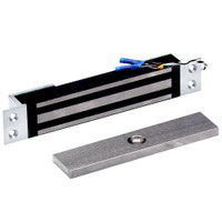 2600-MB-US26 DynaLock 2600 Series 650 LBs Single Mortise Mini Electromagnetic Lock with Mounting Brackets in Bright Chrome