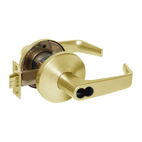 9K37W15LS3605 Best 9K Series Institutional Cylindrical Lever Locks with Contour Angle with Return Lever Design Accept 7 Pin Best Core in Bright Brass
