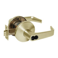 9K37W15LS3606 Best 9K Series Institutional Cylindrical Lever Locks with Contour Angle with Return Lever Design Accept 7 Pin Best Core in Satin Brass