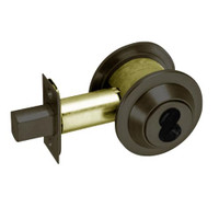 DL3011-613-CL6 Corbin DL3000 Series IC 6-Pin Less Core Cylindrical Deadlocks with Single Cylinder w/ Blank Plate in Oil Rubbed Bronze Finish