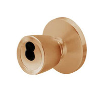 6K27E6DS3612 Best 6K Series Medium Duty Service station Cylindrical Knob Locks with Tulip Knob Style in Satin Bronze