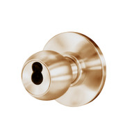 8K37W4AS3612 Best 8K Series Institutional Heavy Duty Cylindrical Knob Locks with Round Style in Satin Bronze