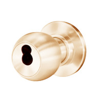 8K37W4CS3611 Best 8K Series Institutional Heavy Duty Cylindrical Knob Locks with Round Style in Bright Bronze