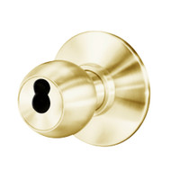 8K37W4DS3605 Best 8K Series Institutional Heavy Duty Cylindrical Knob Locks with Round Style in Bright Brass