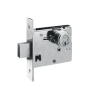 48H7R618-LH Best 48H Series Single Cylinder Classroom Mortise Deadlocks in Bright Nickel