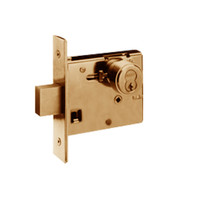 48H7R612-RH Best 48H Series Single Cylinder Classroom Mortise Deadlocks in Satin Bronze