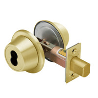 8T37MSTK605D5 Best T Series Double-Keyed Tubular Standard Deadbolt in Bright Brass