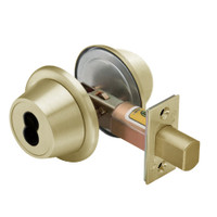 8T37MSTK606D5 Best T Series Double-Keyed Tubular Standard Deadbolt in Satin Brass