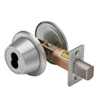 7T27LSTK626 Best T Series Single-Keyed with Blankplate Tubular Standard Deadbolt in Satin Chrome