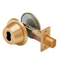 7T37LSTK612 Best T Series Single-Keyed with Blankplate Tubular Standard Deadbolt in Satin Bronze