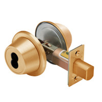 7T37MSTK612 Best T Series Double-Keyed Tubular Standard Deadbolt in Satin Bronze
