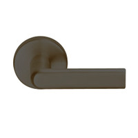 L9080L-01A-613 Schlage L Series Less Cylinder Storeroom Commercial Mortise Lock with 01 Cast Lever Design in Oil Rubbed Bronze