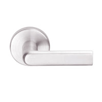 L9080L-01B-629 Schlage L Series Less Cylinder Storeroom Commercial Mortise Lock with 01 Cast Lever Design in Bright Stainless Steel