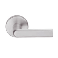 L9080L-01B-630 Schlage L Series Less Cylinder Storeroom Commercial Mortise Lock with 01 Cast Lever Design in Satin Stainless Steel