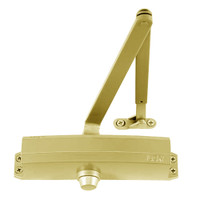 1250-HEDA-LH-BRASS LCN Door Closer with Hold Open Extra Duty Arm in BRASS Finish
