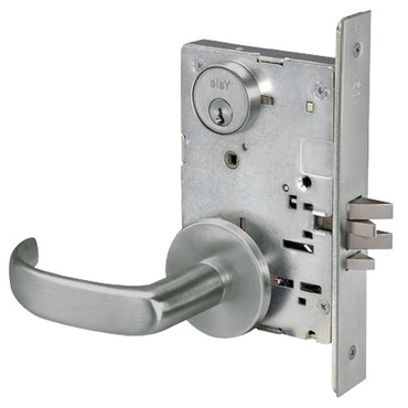 PBR8829FL 619 Yale 8800FL Series Single Cylinder Mortise Closet Locks With  Pacific Beach Lever In