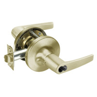 SI-MO5417LN-606 Yale 5400LN Series Double Cylinder Apartment or Exit Cylindrical Locks with Monroe Lever Prepped for Schlage IC Core in Satin Brass