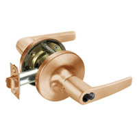 SI-MO5417LN-612 Yale 5400LN Series Double Cylinder Apartment or Exit Cylindrical Locks with Monroe Lever Prepped for Schlage IC Core in Satin Bronze