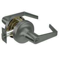 AU5321LN-620 Yale 5300LN Series Double Cylinder Communicating Cylindrical Lock with Augusta Lever in Antique Nickel