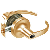 SI-PB5307LN-612 Yale 5300LN Series Single Cylinder Entry Cylindrical Lock with Pacific Beach Lever Prepped for Schlage IC Core in Satin Bronze